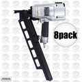 "Hitachi NR83A3 8pk 3-1/4"" Plastic Collated Framing Nailer w/ Dpth Adjustment"
