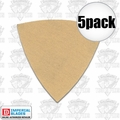 Imperial Blades 5TSP180 5pk 180 Grit Oscillating Triangle Sandpaper