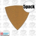 Imperial Blades 5TSP60 5pk 60 Grit Oscillating Triangle Sandpaper