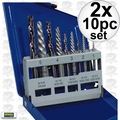 Irwin 11119 2x 10pc Screw Extractor And Left-Hand Cobalt Drill Bit Set