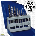 Irwin 11119 4x 10pc Screw Extractor And Left-Hand Cobalt Drill Bit Set