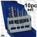 Irwin 11119 10pc Screw Extractor And Left-Hand Cobalt Drill Bit Set