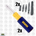 Irwin 2051100 2pk 9 i n 1 Screwdriver Multi Tool