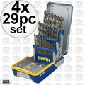 Irwin 3018002B 4x 29 Piece Drill Bit Industrial Set-Cobalt M42