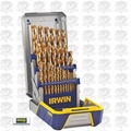 Irwin 3018003 29 piece Titanium Nitride Metal Drill Bit Set