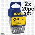 Irwin 357120 2pk 20 pc #2 Phillips Drywall Bits
