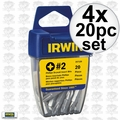 Irwin 357120 4pk 20pc #2 Phillips Drywall Bits
