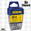 Irwin 357120 8pk 20pc #2 Phillips Drywall Bits