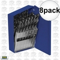 Irwin 80181 8pk 60pc Wire Gauge Straight Shank Metal Drill Bit Set