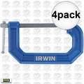 "Irwin Quick Grip 225102 4pk 2"" C-Clamp"