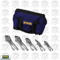Irwin Vise Grip 2077704 Locking Plier Set w/ Nylon Tool Bag