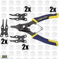 Irwin Vise Grip 2078900 2x Convertible Snap Ring Plier Set