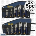 Irwin Vise Grip 538KBT 2x 5pc Fast Release Locking Plier Set