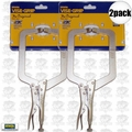 "Irwin Vise Grip 9DR 2pk 9"" Locking C-Clamp with Regular Tips"