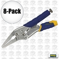 "Irwin Vise Grip 9LN 8pk 9"" Long Nose Locking Pliers"