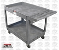 "JET 140019 PUC 37-3/8"" x 25-5/8"" Series Heavy-Duty Resin Service Cart"