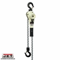 JET 235015 1.6 Ton LVR Hoist + 15' Lift+ SHIP YARD HOOKS