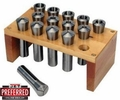 JET 650015 Premium 18 Piece 5-C Collet Set With Rack
