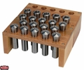 JET 650135 Premium 19 Piece R-8 Collet Set With Rack