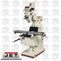 JET 690215 JTM-1055 5HP 3PH 230/460V Mill + X-Axis Powerfeed
