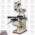 JET 690229 JTM1050 3HP 3PH 230/460V Mill + 200S DRO, X , Y, Knee TPFA