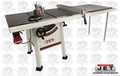 "JET 708495K 10"" Proshop Tablesaw PLUS 52"" Fence, Cast Iron Wings"