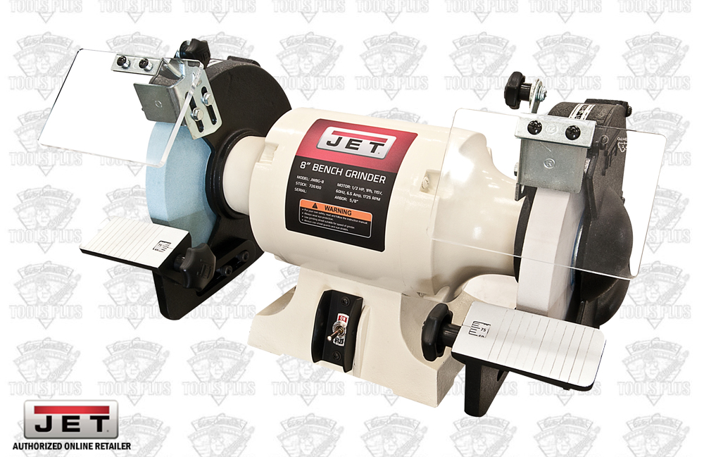 "JET 726100 8"" Woodworking Bench Grinder 2 Norton Wheels"