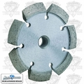 "Lackmond CKV4375 4"" V-Shaped Diamond Wheel Crack Chaser 4""x.375x7/8""-5/8"""