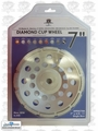 Lackmond SPPGC7SN 7'' Single Row Diamond Cup Wheel 5/8-11 Treaded Hub
