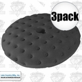 "Lake Country 78-74650C 3pk 7-1/2"" CCS Black Finessing Foam Pad"