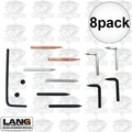 Lang Tools 12 8pk Snap Ring Plier Replacement Tip Set