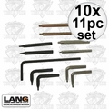 Lang Tools 14 10x 11pc Snap Ring Plier Replacement Tip Set Formerly known as Hi-Tech