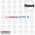 Lenox 618R 2x 5pk Bi-Metal Reciprocating Saw Blades