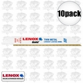 "Lenox 624G 6"" x 24 TPI Gold Reciprocating Saw Blades"