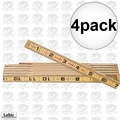 Lufkin 066 4pk 6 ft Red End Wood Rule