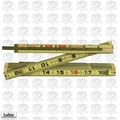 Lufkin X48 8 ft Red End Wood Extension Ruler
