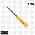 Lutz 2-IN-1 10pk Pocket Size Yellow Screwdriver