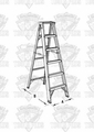 Lynn FT308 Fiberglass Stepladder