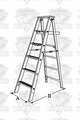 Lynn MES10 Wood Stepladder