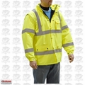 Majestic 75-1303-L Large Hi-Vis Parka Fleece Lined Yellow Cold-Weather