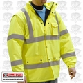 Majestic 75-1303 Large Hi-Vis Parka Fleece Lined Yellow Cold-Weather