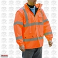 Majestic 75-1304-2XL 2XL Hi-Vis Parka Fleece Lined Orange Cold-Weather