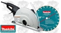 "Makita 4114X 14"" AC/DC Power Cutter Angle Cutter + Premium Diamond Bld"