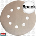 "Makita 794521-9 5pk 5"" x 180 Grit 8 Hole Hook & Loop Abrasive Discs"