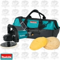 "Makita 9237C 7"" Electronic Sander / Polisher w/ Bonnets and Carrying Bag"