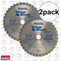 "Makita A-93815 2pk 7-1/4"" 36T Mild Steel Cutting Cermet-Tipped Saw Blade"