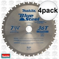 "Makita A-93815 4pk 7-1/4"" 36T Mild Steel Cutting Cermet-Tipped Saw Blade"