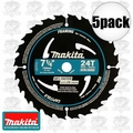 "Makita A-94530 5pk 7-1/4"" 24 Tooth Black Framing Blade"