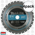 "Makita A-95037 4pk 5-3/8"" 30T Carbide-Tipped Ferrous Metal Cutting Saw Blade"