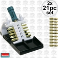 Makita B-31893 2x 21pc Set Impact Gold Ultra Magnetic Insert Bit Set